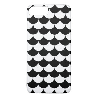 Black and White Waves Pattern Nautical iPhone 7 Plus Case