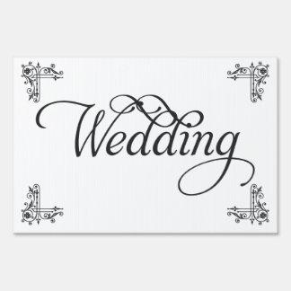 Black and white Wedding Yard sign