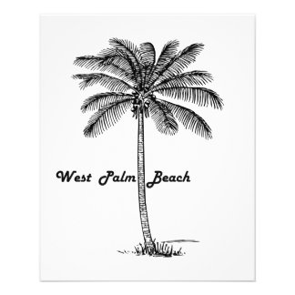 Black and white West Palm Beach & Palm design Flyer