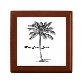 Black and white West Palm Beach & Palm design Jewelry Boxes