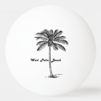 Black and white West Palm Beach & Palm design Ping Pong Ball