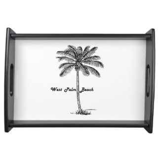 Black and white West Palm Beach & Palm design Serving Tray