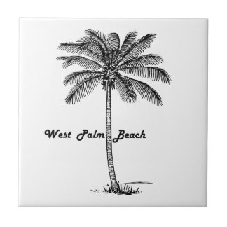 Black and white West Palm Beach & Palm design Tiles