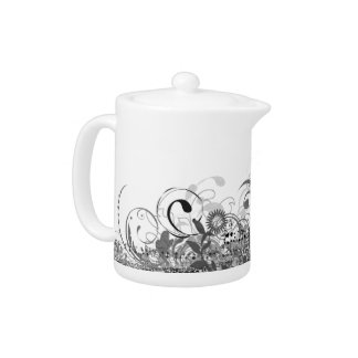 Black And White Teapots Zazzle Canada