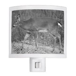 Black and White White-Tailed Deer Night Light