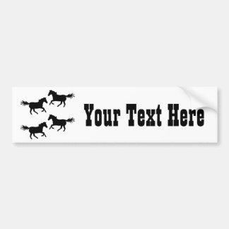 Black and White Wild Horses Bumper Sticker