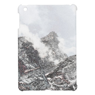 Black and white winter mountains iPad mini covers