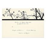 Black and White Winter Tree Wedding RSVP Invitation