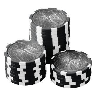 Black and White Winter Wonderland Set Of Poker Chips