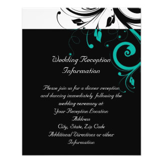 Black and White with Teal Reverse Swirl Flyer