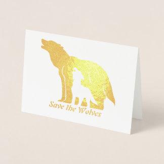 Black and White Wolves Foil Card