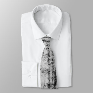 Black and White Wood Pattern Tie