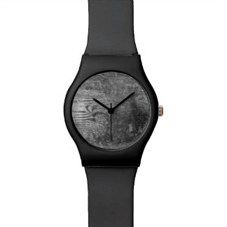 black and white wood plank face wrist watches