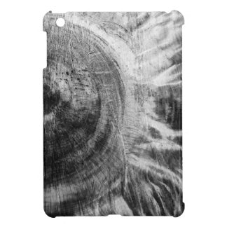 Black and white wood texture iPad mini cover