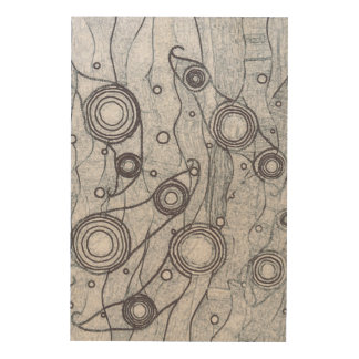 Black and White Wood Wall Art