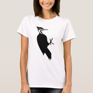 Black and White Woodpecker Lovers T-Shirt