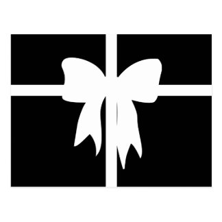 Black and White Wrapped Present Postcard