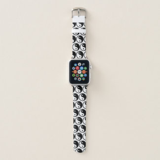 Black and White Yin and Yang Symbols Apple Watch Band