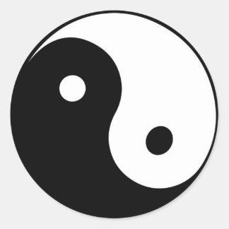black and white Yin yang sticker