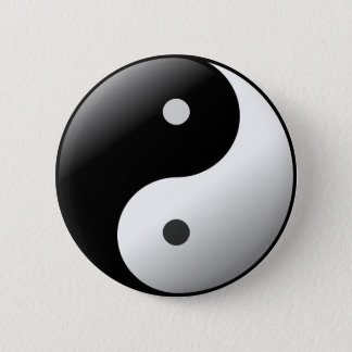Black and White Yin Yang Symbol button