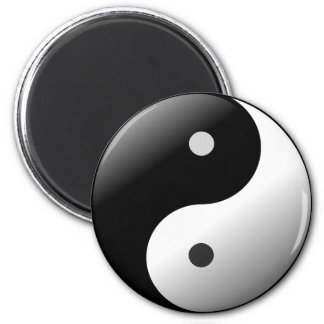 Black and White Ying Yang Magnet