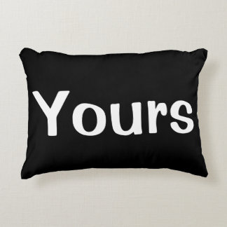 Black and White Yours.Mine.Ours Pillow 3 Piece Set