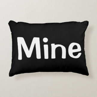 Black and White Yours.Mine.Ours Pillow Collection