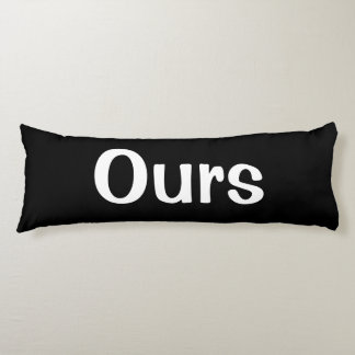 Black and White Yours. Mine. Ours Three Pillow Set