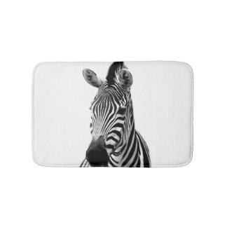 Black and white zebra animal jungle wild photo bath mat