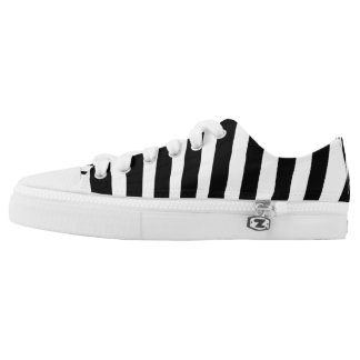 Black and White Zebra Animal Print Low-Top Sneakers