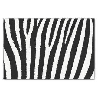 Black and White Zebra Animal Print Tissue Paper