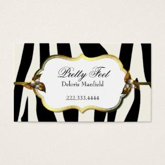 Black and White Zebra Print Business Card