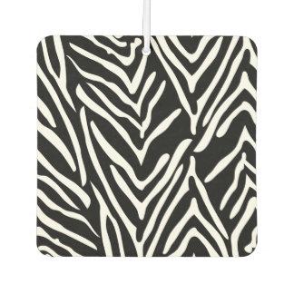 Black and White Zebra Print Car Air Freshener