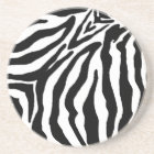 Black and White Zebra Print Coaster