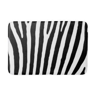 Black and White Zebra Print Pattern. Bath Mat