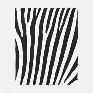 Black and White Zebra Print Pattern. Fleece Blanket