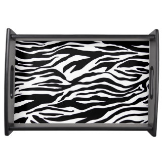 Black and White Zebra Print Serving Tray