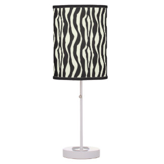 Black and White Zebra Print Table Lamp