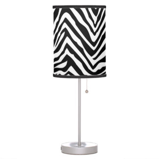 Black and White Zebra Print Table Lamp