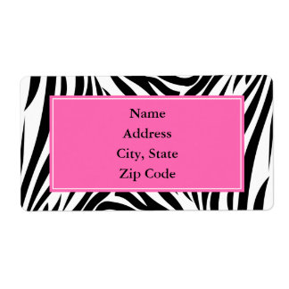 Black and White Zebra Print with Hot Pink