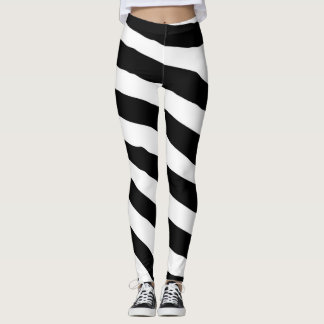 Black and White Zebra Print Yoga Pants