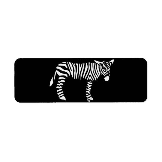 Black and White Zebra Return Address Label