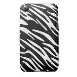 Black and White Zebra Stripe iPhone 3G Case iPhone 3 Case-Mate Case