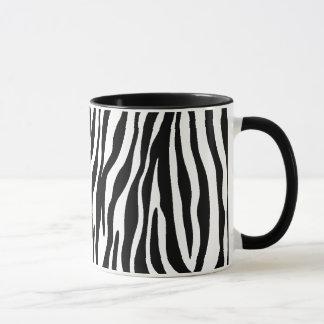 Black and White Zebra Stripe Mugs