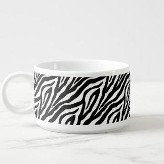 Black and White Zebra Stripes Animal Print Bowl