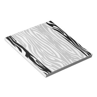 Black and White Zebra stripes animal print Notepad
