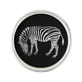 Black and White Zebra Stripes Art Lapel Pin