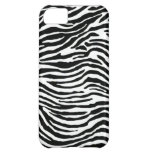 black and white zebra stripes cover for iPhone 5C