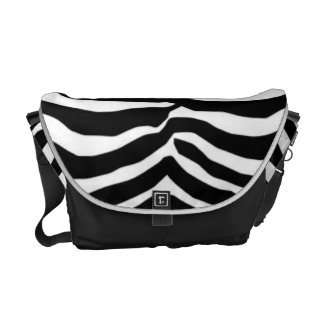 Black And White Zebra Stripes Messenger Bag