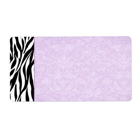 Black and White Zebra Wedding Address Shipping Label